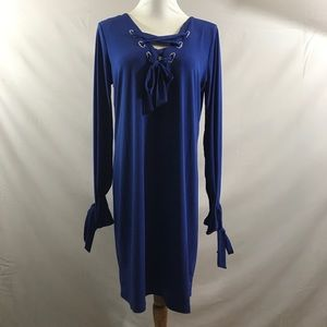 Michael Kors bright royal blue basics dress NEW!